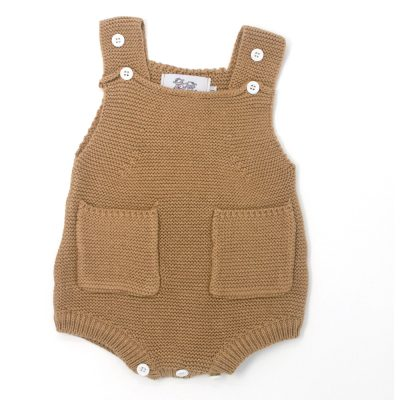 baby knitted sleeveless romper