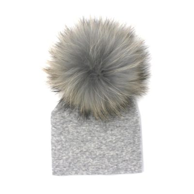 real fur pom pom beanie hat