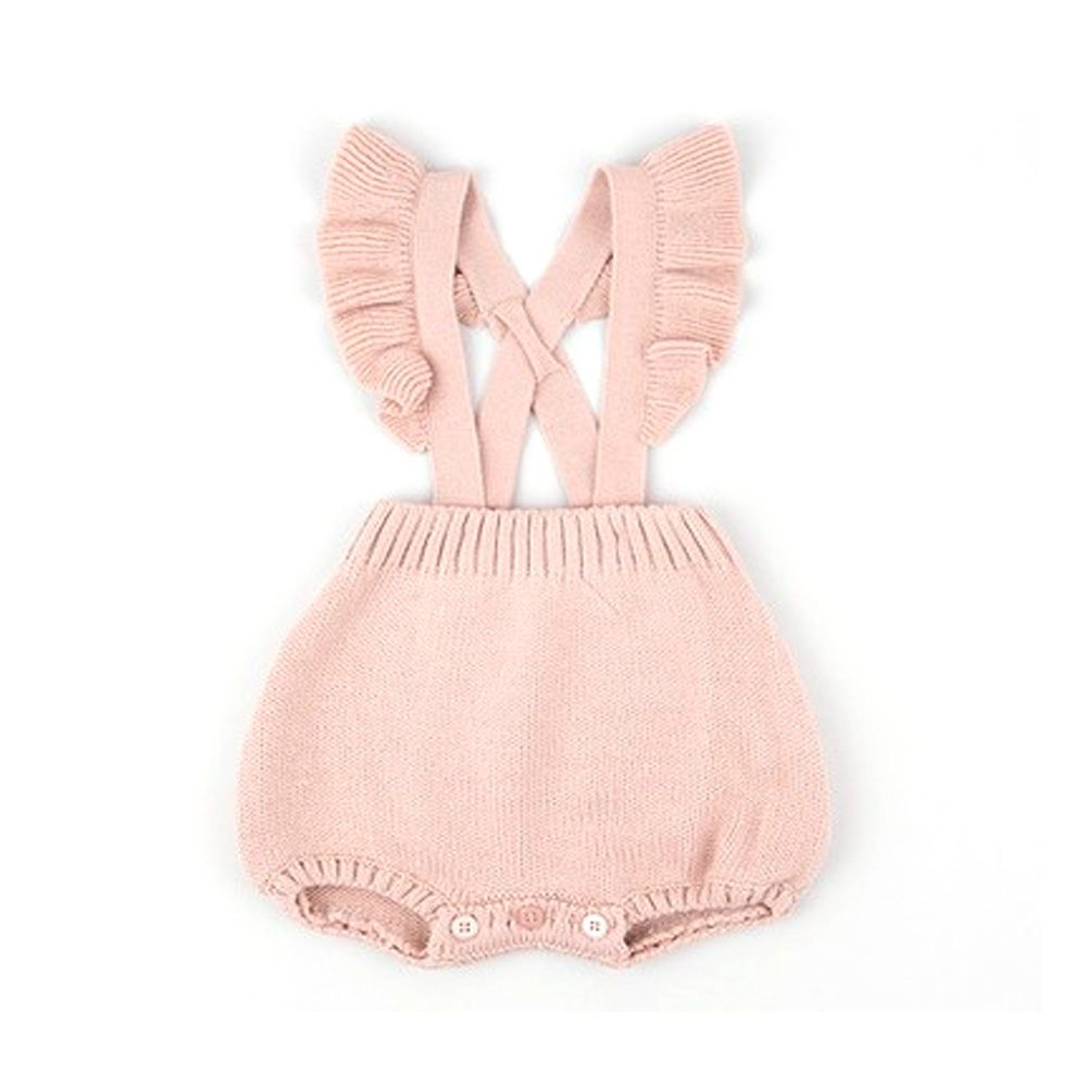 bc2c13d9c Girls Knitted Ruffle Bubble Romper - MolliMoo