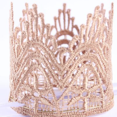 Fabric children crown headband