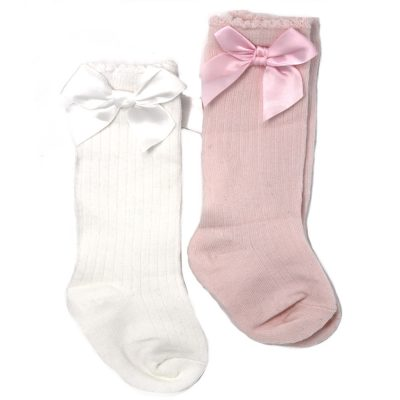 BABY GIRL KNEE HIGH PINK SOCKS