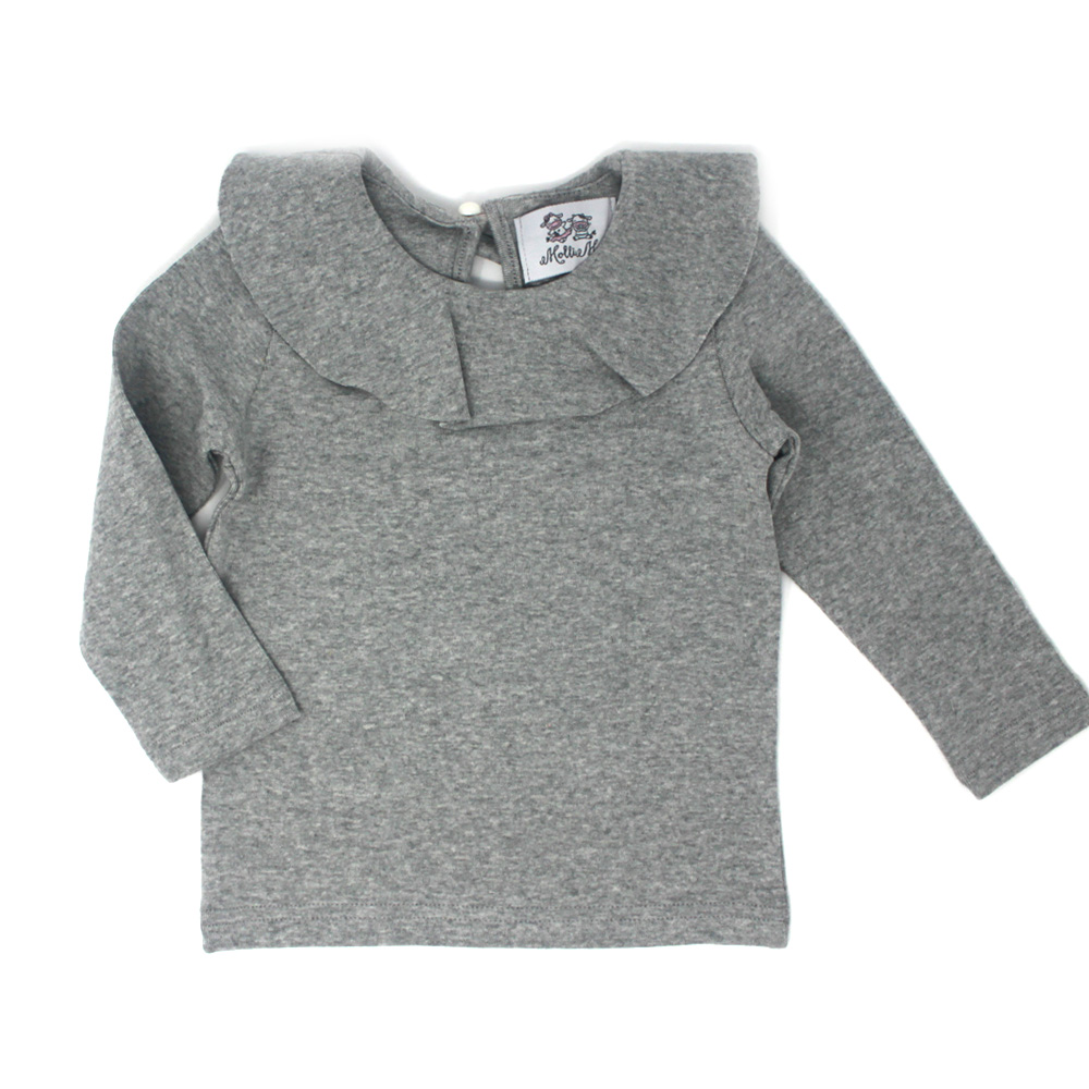 Girls Ruffle Collar Soft Tops -Baby Girls & Big Girls