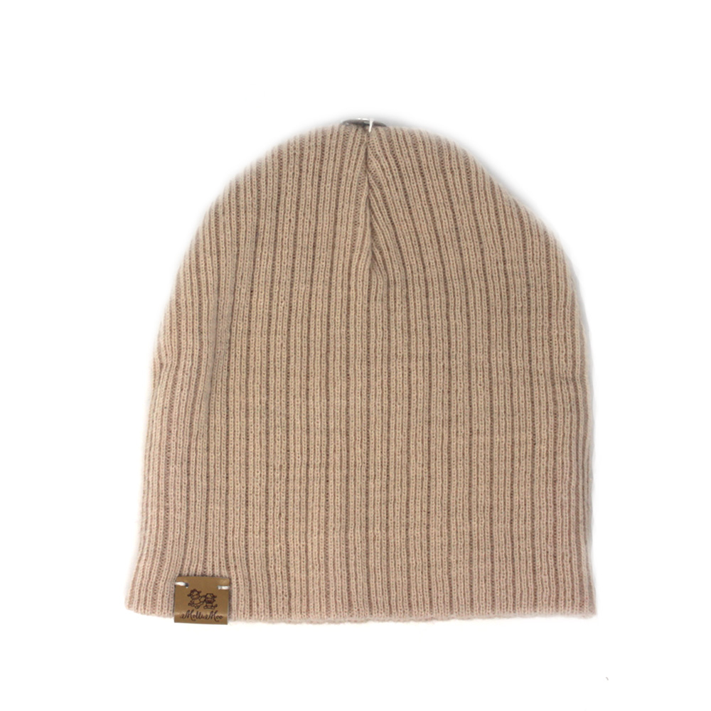 Create Your Own Winter Pompom Beanie Hat – Tan