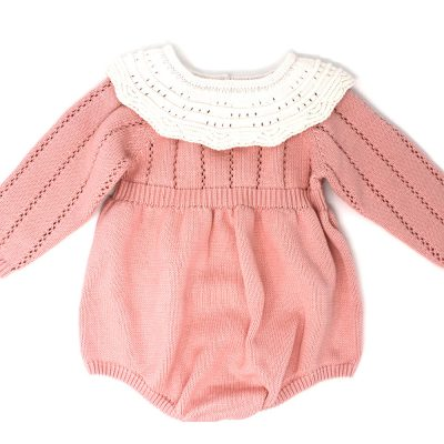 Baby girls pickle knitted ruffle romper