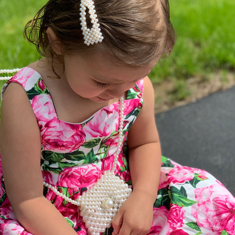 Adorable Girls Pearl Purse