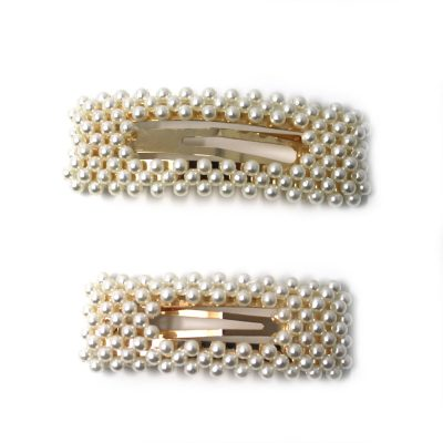 beautiful large girls pearl hair clips