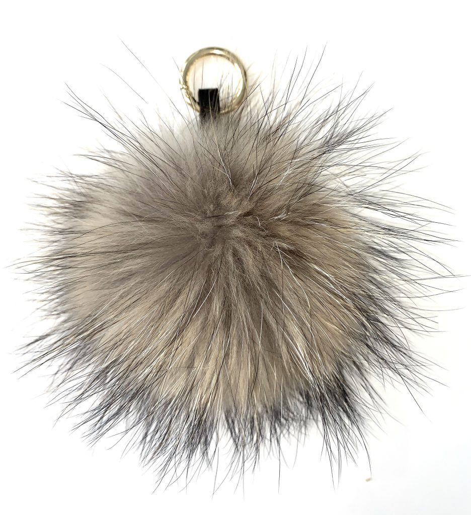 Beautiful Fur Pompom Keychain – Brown