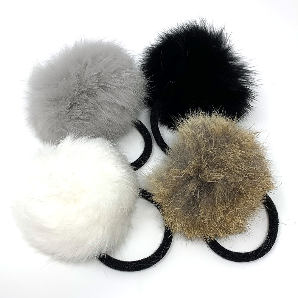 Beautiful Fur Pompom Hair tie