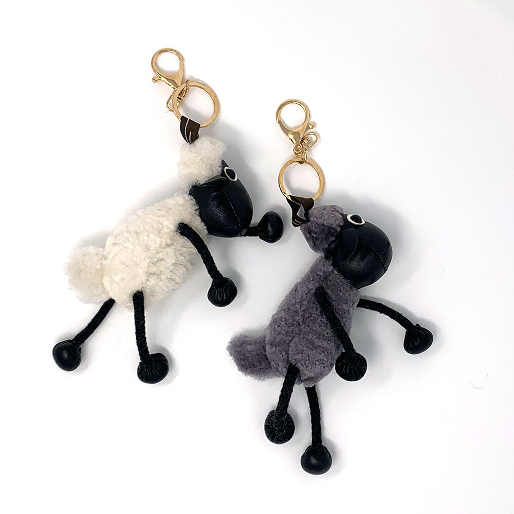 Adorable Fur Sheep Keychain