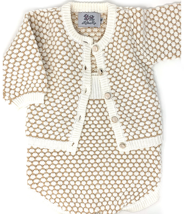 Beautiful Girls Honeycomb Romper/ Sweater Set